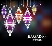Härliga eleganta Ramadan Kareem Lantern eller Fanous Arkivbilder