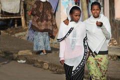 härliga ethiopia ethiopian flickor Arkivfoto