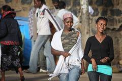 härliga ethiopia ethiopian flickor Fotografering för Bildbyråer