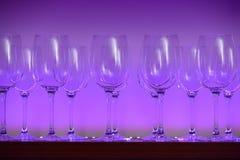 Härliga exponeringsglas på en hylla royaltyfria foton