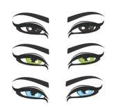 härliga färger eyes många Arkivbilder