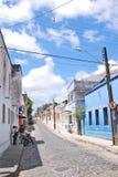 Härliga färgglade hus i Olinda Arkivfoto