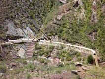 Härliga färgrika berg cordillera de los frailes i Bolivia Royaltyfri Fotografi