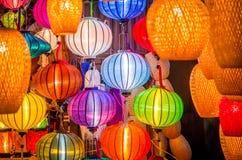 Härliga färgrika lyktor i Vietnam Royaltyfri Foto