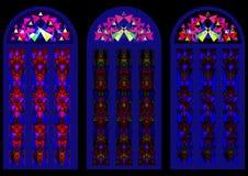 Härliga färgrika målat glassfönster Royaltyfria Bilder