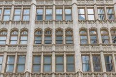 härliga fönster Fragment detaljer Philadelphia Pennsylvania, USA royaltyfria bilder