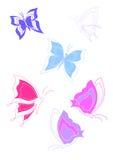 härliga fjärilar Royaltyfria Foton
