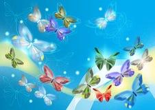 härliga fjärilar planlägger elegantt Stock Illustrationer