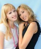 härliga flickor två Arkivfoto