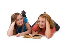 härliga flickor två Arkivfoton