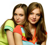 härliga flickor två Royaltyfria Bilder