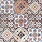 Härliga gamla modeller för keramiska tegelplattor för vägg arkivfoto