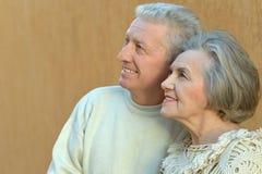 Härliga gammalare par Royaltyfria Foton