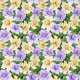 Härliga gardeniablommor med sidor i sömlös blom- modell Ljus botanisk bakgrund för Adobekorrigeringar hög för målning för photosh vektor illustrationer