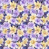 Härliga gardeniablommor med sidor i sömlös blom- modell Pastell färgade botanisk bakgrund för Adobekorrigeringar hög för målning  vektor illustrationer