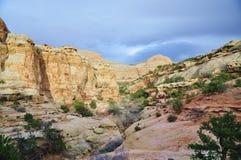 Härliga geologic särdrag i bakgrund Royaltyfri Foto