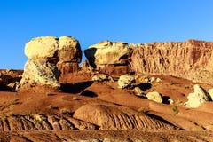 Härliga geologic särdrag i bakgrund royaltyfria foton