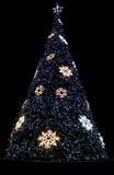 Härliga glänsande jultrees Arkivfoton