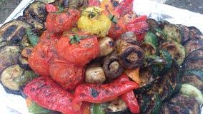 Härliga grillade grönsaker Arkivbilder