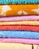 härliga handdukar Fotografering för Bildbyråer