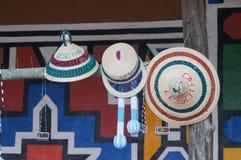 Härliga hattar för försäljning, Sydafrika Royaltyfri Bild