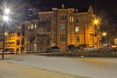 Härliga historiska hem i Bryssel Royaltyfria Bilder