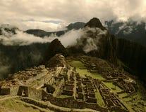 Härliga historiska Machu Picchu, Peru Fotografering för Bildbyråer