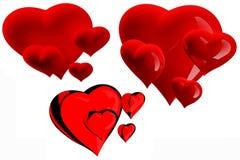 härliga hjärtor Arkivfoton