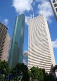härliga houston skyskrapor Arkivbilder