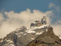 Härliga indiska iskalla glaciärer royaltyfri fotografi
