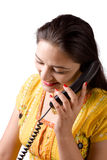 härliga indiska telefonkvinnor Royaltyfri Fotografi