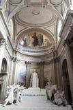 Härliga inre av panteon, en UNESCOvärldsarv france paris royaltyfria bilder