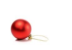 Härliga julbollar som isoleras på vit bakgrund Fotografering för Bildbyråer