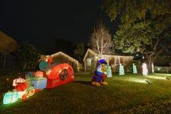 Härliga julljus i övreHastings ranchgrannskap royaltyfria foton