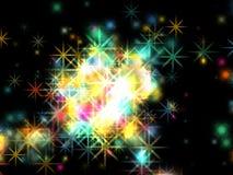 härliga julstjärnor Royaltyfri Bild