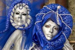 härliga karnevalmaskeringar Arkivbilder