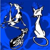 härliga katter royaltyfri illustrationer
