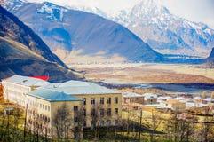 Härliga Kaukasus berg, Georgia Arkivbilder