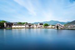 Härliga kinesiska forntida byar Fotografering för Bildbyråer