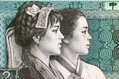 härliga koreanska infödingpu-kvinnor yi Arkivfoto