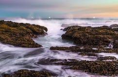 Härliga kust- Scence på Sydafrika Royaltyfri Fotografi