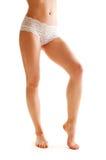 härliga kvinnliga ben Fotografering för Bildbyråer
