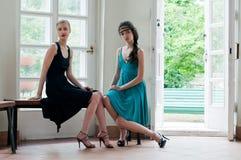 härliga kvinnor för hussommar två Royaltyfri Fotografi
