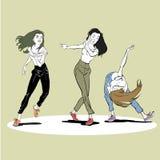 Härliga kvinnor som dansar charleston Royaltyfri Foto
