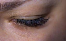 Härliga kvinnors ögonfrans arkivfoto