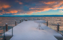 Härliga Lake Tahoe Kalifornien Arkivfoton