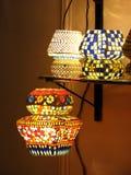 härliga lampshades arkivbild