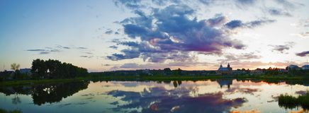 Härliga landskap av naturen av Vitryssland Arkivbilder
