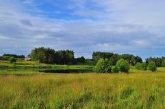 Härliga landskap av naturen av Vitryssland Royaltyfri Fotografi