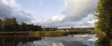 Härliga landskap av naturen av Vitryssland Royaltyfri Foto